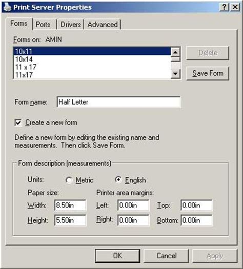 Printer Ukuran Kertas A3 bagaimana cara setting kertas custom size di windows xp