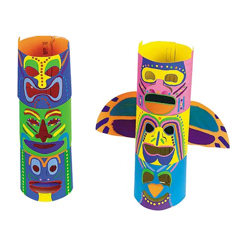 How To Make A Totem Pole Out Of Paper - diy terrific totem poles trading discontinued