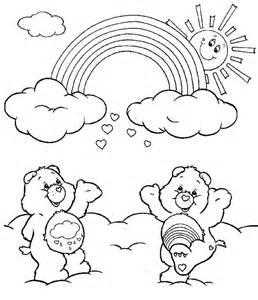 care bears cheering rainbow coloring