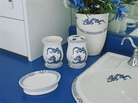 blue and white porcelain bathroom accessories hand painted porcelain bathroom accessories decorated