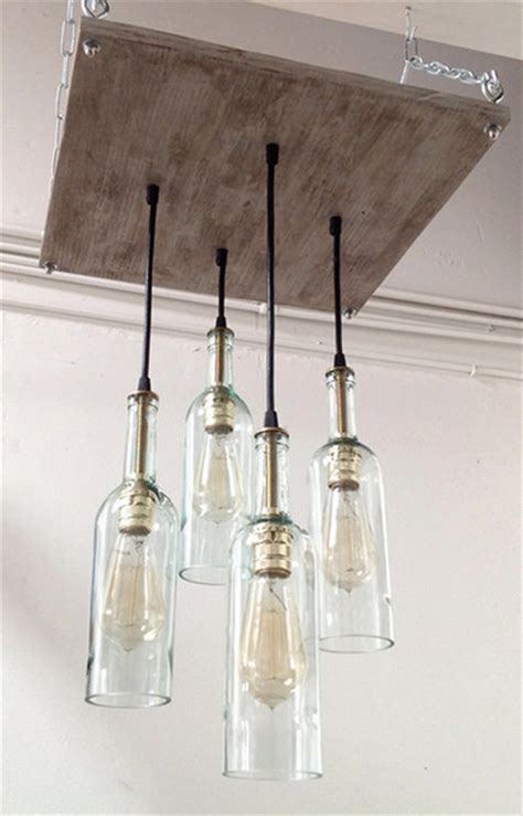 Cottage Style Lighting by Industrial Cottage Chic Lighting With Wine Bottle Pendants
