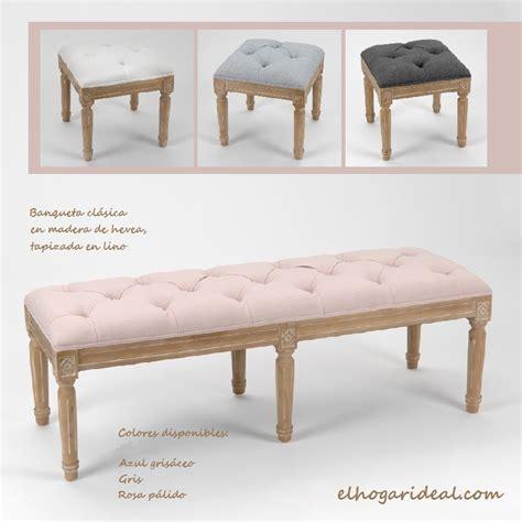 banquetas tapizadas bancos y banquetas tapizadas en lino para tus estancias