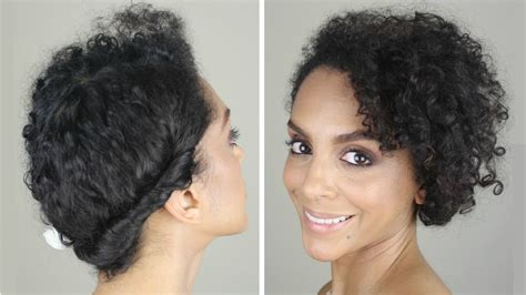 casual natural hairstyles how to casual updo for naturally curly hair youtube