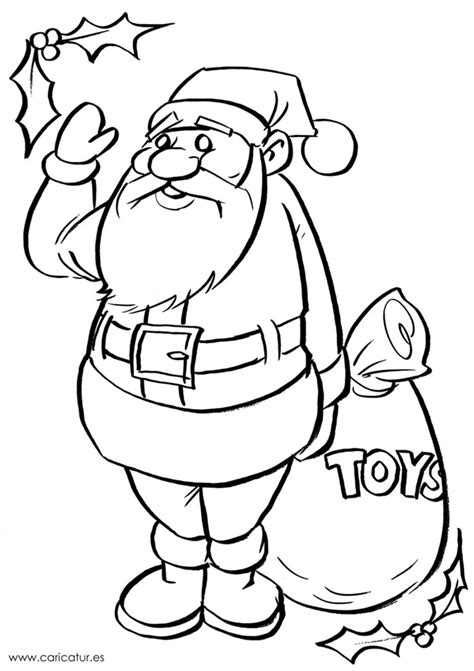 irish santa coloring page black and white santa drawing for colouring in edchatie