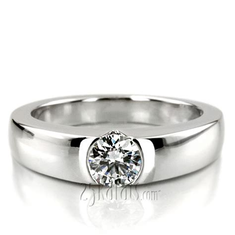Tension Engagement Rings by Tension Set Solitaire Engagement Ring