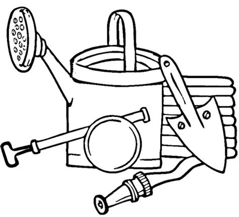 coloring pages of garden tools the gallery for gt tools coloring page
