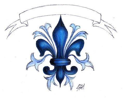 fleur de lys lis flower by malvawolf on deviantart
