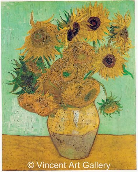 vincent gogh vase with twelve sunflowers the gallery for gt gogh paintings sunflowers original