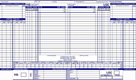 sle hockey score sheet planiligue nouveaut 233 s