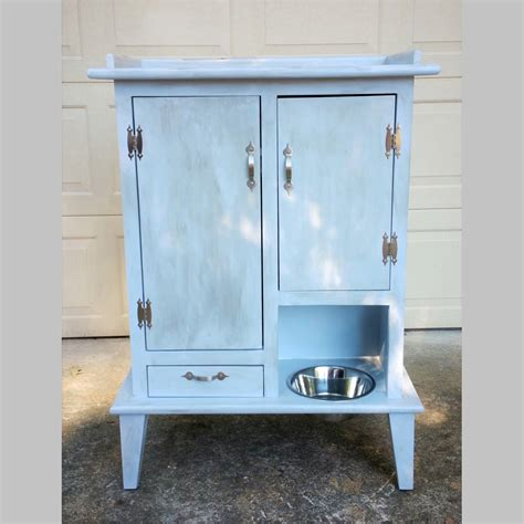 pet feeding station cabinet pet pantry with open bowl bowl drawer and two cabinets flat