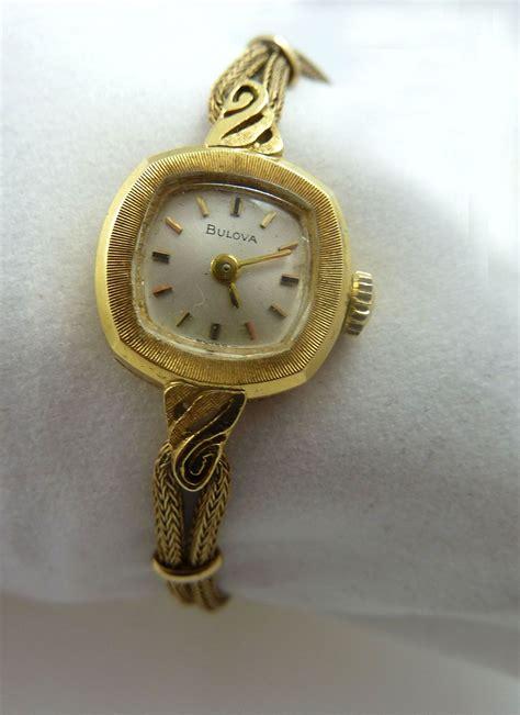 vintage 18k gold bulova dress from