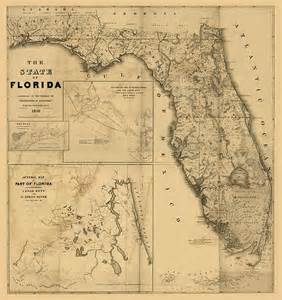 florida map vintage antique map of florida print by