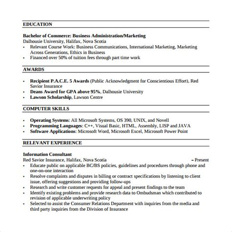 customer service resume template word sle customer service resume 10 free