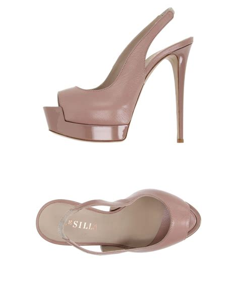 silla shoes lyst le silla sandals