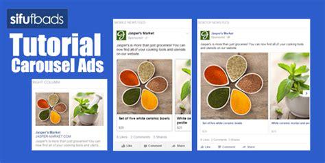 tutorial facebook ads pdf tutorial cara bina facebook carousel ads di ads manager
