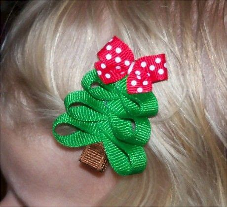 christmas tree hair bow awesome crafts which i will