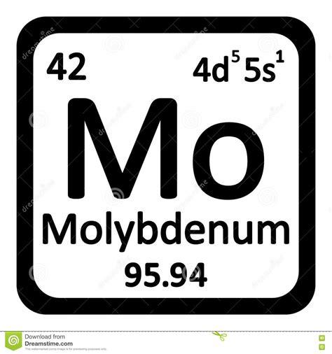 periodic table element molybdenum icon stock illustration