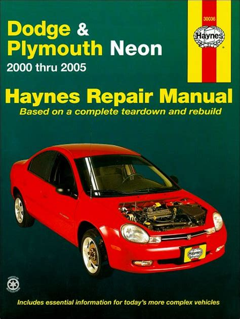 service manuals schematics 2002 dodge neon user handbook dodge neon plymouth neon repair service manual 2000 2005 haynes
