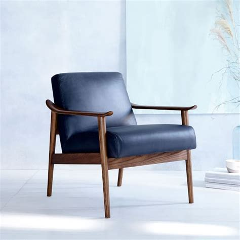Chair Show by Mid Century Leather Show Wood Chair West Elm