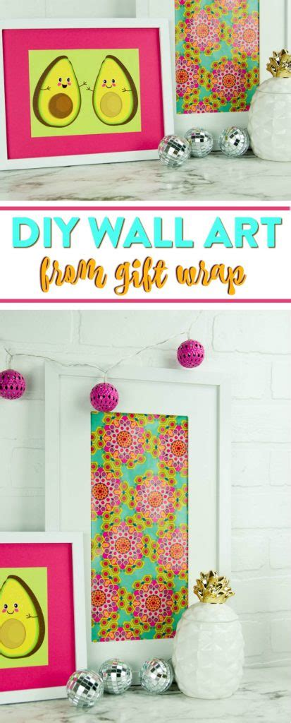 64 ideas low budget hight impact diy home decor projects diy wall art made from gift wrap cheap but oh so awesome