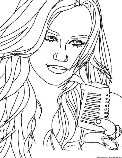 hannah montana coloring coloring pages