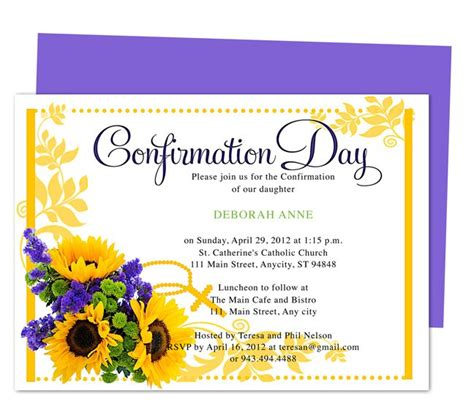 confirmation invites templates 113 best images about comfirmation on