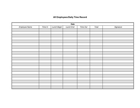 printable clock in and out timesheet best photos of employee time sheet employee daily time