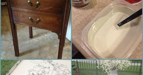 chalk paint using vaseline sewing table makeover vaseline chalk paint and paint