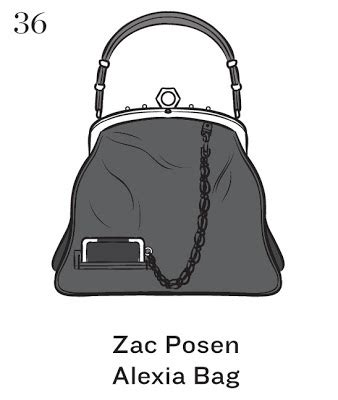 Zac Posen Alexia Frame Bag by Top 50 Signature Handbags Illustrated By