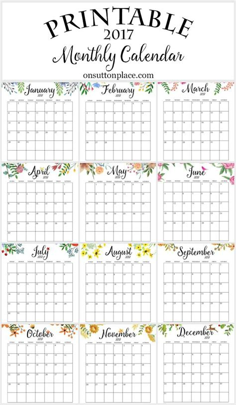 printable calendar quarterly 2017 free printable monthly calendar free printable