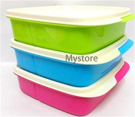 Tupperware Lunch Box Lolly Tup tupperware 3x lolly tup bento lunch box set 550ml in