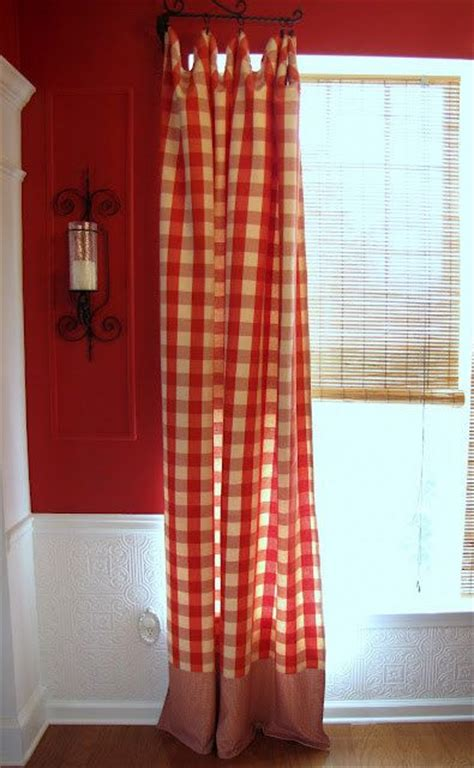 red buffalo check curtains four 4 red cream buffalo check waverly curtain panels 54