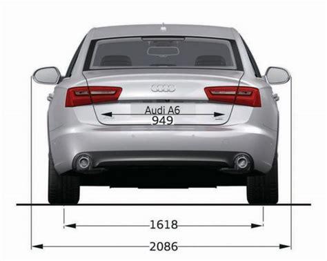 L Nge Audi A6 by Audi A6 C7 Abmessungen Technische Daten L 228 Nge