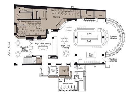 ground bar floor plan brown