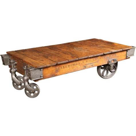Vintage Industrial Lineberry Cart Coffee Table At 1stdibs Vintage Industrial Coffee Table