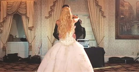 wedding guest shocked when bride and groom demand more bride and groom shock their guests with a footloose