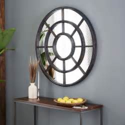 Circular Wall Decor Notched Round Wall Mirror West Elm