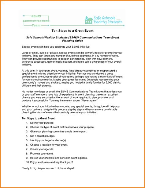 sle event planner resume template of business proposal
