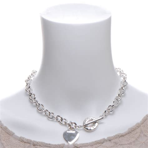 co sterling silver tag toggle necklace 47817