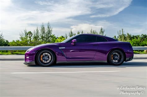 nissan purple purple nissan gt r lowered on velgen wheels gtspirit