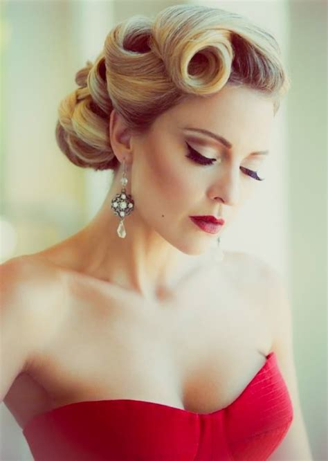 Vintage Hair Updo by Vintage Wedding Hairstyles For Hair
