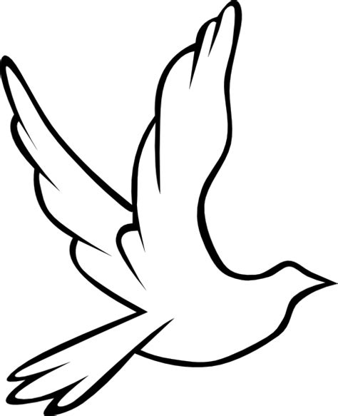 Holy Spirit Dove Outline by Dove Clip At Clker Vector Clip Royalty Free Domain