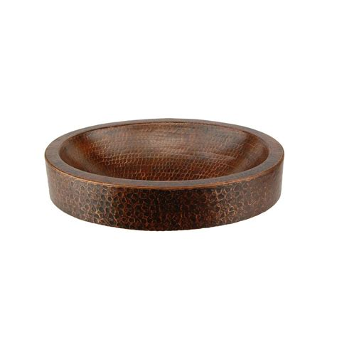 premier copper products premier copper products compact oval skirted hammered copper vessel sink in rubbed bronze