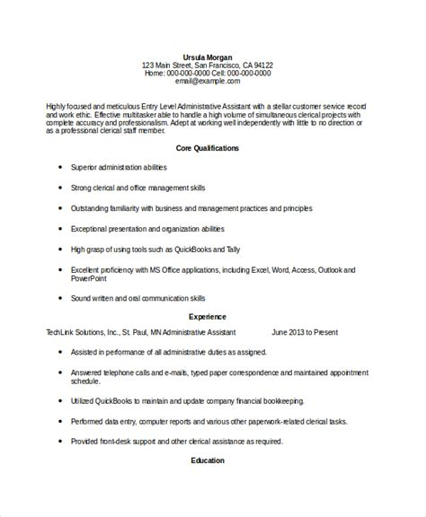 entry level resume profile entry level dental assistant resume entry