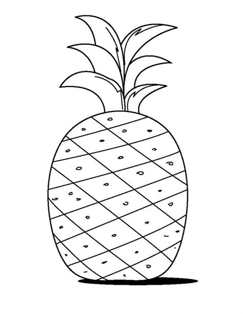 pineapple template free printable pineapple coloring pages for