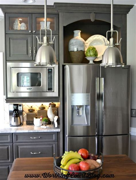 tv above refrigerator kitchen ideas pinterest 25 best ideas about built in microwave on pinterest
