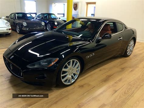 black maserati sedan 2008 maserati grand turismo coupe black with cuoiosella
