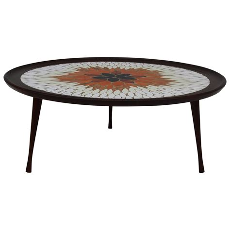 Mosaic Coffee Table by Mid Century Modern Italian Mosaic Coffee Table For Sale At