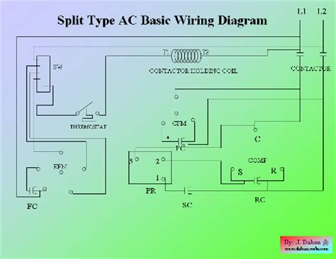 split ac basic wiring diagram