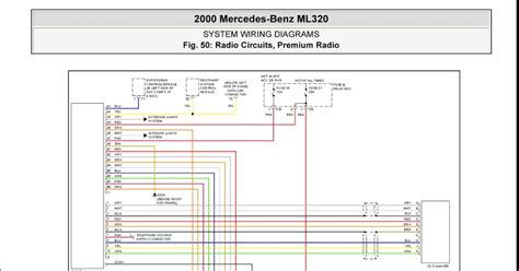 2002 mercedes ml320 wiring diagram color codes mercedes